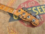 1968 Fender Telecaster Bass Maple Cap Neck With Lollipop Tuners 1960and039s Vintage