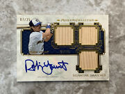 2014 Robin Yount Topps Museum Collection Triple Bat Auto Card 7/25