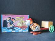 Vintage Mouse Cheese Vender Mechanical Wind Up Toy Yone Japan New In Box W/tag