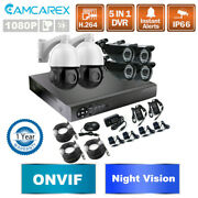 1080p 8ch 2mp 30x Zoom Dvr Cctv Home Security Camera System Motion Alert Outdoor