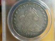 1799 Draped Bust Silver Dollar. Anacs Ef 40 Details - Obverse Fields Tooled.