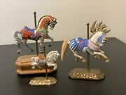 Willitts Carousel - Americana Collection And Group Ii Set Of 3 1 W/music Box Euc