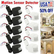 Lot 180° Led Infrared Security Pir Motion Sensor Detector Wall Light Switch