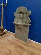 Reclaimed Salvage Synagogue Wall Fountain Solid Marble 7 Day Sale Reduced
