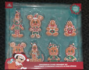 2020 Disney Parks Christmas Gingerbread Cookies Mickey And Friends Ornament Set