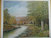Country Living By Fred Thrasher 1985 Beautiful Country Scene Artist Proof