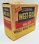 1940s Cereal Rare Very Old Antique Vintage Sanitarium Weet-bix Box Advertising