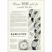 1933 Hamilton Watches Women You Asked For A Watch Vintage Print Ad