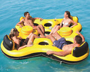 Pvc 4 Person Fishing Swimming Water Sports Inflatable Boat Rest Floating Island