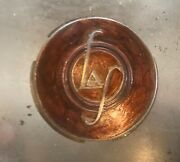 Vintage 1935-1938 Lasalle Metal Horn Button -good Chrome And Brown Paint