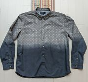 Paul Smith - Size Xl - Really Cool Polka Dot Shirt - Ombre Faded Out Colour