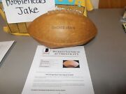 1958 Chicago Bears Signed Autographed Football 31 Total Beckett Coa Wilson