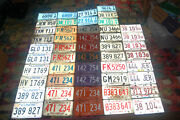 Lot Of 51 Vintage Illinois License Plates 1940 1960s 1970s 1980s Rv Truck Pairs