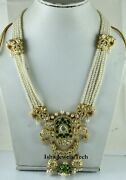 Victorian Necklace Natural Diamond And Diamond Polki 925 Sterling Silver Jewelry