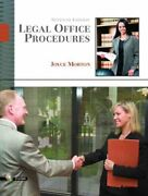 Legal Office Procedures Paperback By Morton Joyce Like New Used Free Ship...
