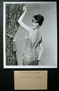 Natalie Wood Gypsy Original Hand Sign Card Matted With Photo Classic