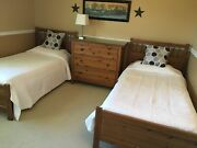 Ikea Twin Bed Set 2 Beds With Mattresses, Dresser And Side Table