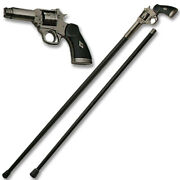 Revolver Walking Cane Staff Mobility Stick Rubber Foot