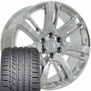 4738 Chrome 22x9 Wheels And Goodyear Tires Set Fit Cadillac Gmc Chevy