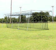 Cimarron Sports Outdoor 24 Batting Cage And 1 1/2 Complete Frame - 40and039x12and039x10