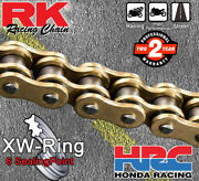 Rk Gold And Gold Gxw Drive Chain 520 P 120 L - Bmw S 1000 Rr Abs Pro - 2017 - 2018