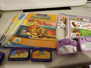Lot Of 3 Leap Frog And 2 Little Touch Leap Pad Library Games / Books