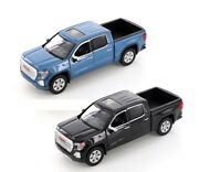 Motormax 2019 Gmc Sierra 1500 Denali Crew Cab 1/27 Diecast Model Black Or Blue