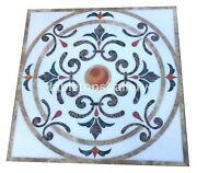 46 Marble Dining Table Top Precious Mosaic Inlay Art Restaurant Decorate W295b