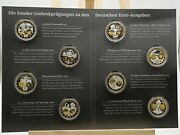01009 Germany Coins 8 Silver Commemorative 2010 For Euro Issues Proof Silver Set