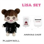 [lisa] Blackpink Yg Official Goods Plush Doll +airpods Case +express Shipping
