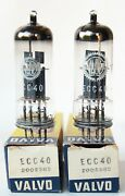 Perfect Mint Pair Ecc40 Valvo Aa61 Old Double Triode Germany ≠ Same Code Nos/nib
