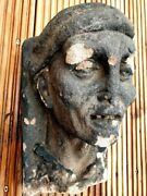 Late Medieval / Gothic 15thc - 16thc Antique Carved Sandstone Head