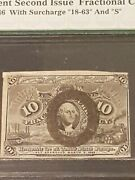 ➡➡1863 Vf30 Pmg 10 Cent Fractional Currency Issue W/ Surcharge Usa Civil War Era