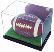 Ultra Clear Uv Protect Football Display Case Stand Holder