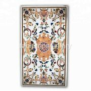 5and039x3and039 Marble Center Table Top Pietra Dura Birds Art Inlay Restaurant Decor W324b