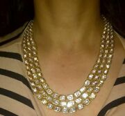 Victorian Natural Uncut Diamond Polki 925 Sterling Silver Necklace Jewelry