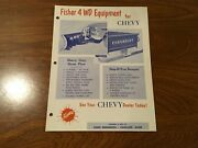 1960 60 Chevrolet Chevy Pick Up Truck Fisher Snow Plow Advertisement