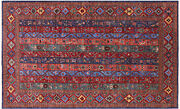 5and039 1 X 8and039 3 Shall Gabbeh Hand-knotted Rug - Q5068