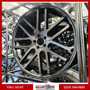 24x10 Gianell 5 Lug Wheel And Tire Package Black Machined Chrome Lip