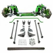 56 Track Mustang Ii Ifs Coilovers 2 Drop Spindle Power Rack Sway Bar 4-link Ki