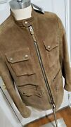 Nwt7k Tom Ford Jacket-suede-44us/54eu-field Jacket-dusty Brown-leather-patina