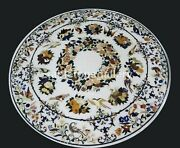 48 Marble Dining Table Top Gemstone Birds And Floral Inlay Restaurant Decor W399