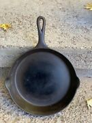 Vtg Favorite Piqua Ware No10 Cast Iron Skillet Early Block Logo Sits Flat Htf