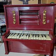 J. Chein And Co. Piano Lodeon Player Piano Mini Automatic No Scroll Works W/issues