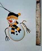 Pittsburgh Steelers Christmas Ornaments Snowman