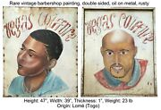 African Barbershop/hair Salon Hand-painted Sign
