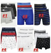 New Polo Menand039s Small And Large 3-pk.classic Boxer Briefs Underwear