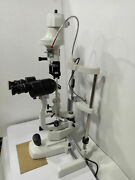 2 Step Slit Lamp Haag Streit With Wooden Base Approved By Ophthalmologist