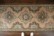 Vintage Turkish Oushak Runner Rughandwoven Wool Antique Rug Runner 3and0395x12and0395 Ft