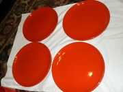 Vintage Dinner Plates Waechtersbach Solid Colours Red Set Of 4 Discontinued